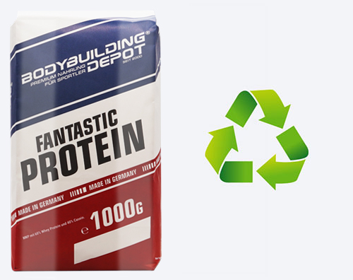 Fantastic Protein umweltfreundlich in Papier verpackt
