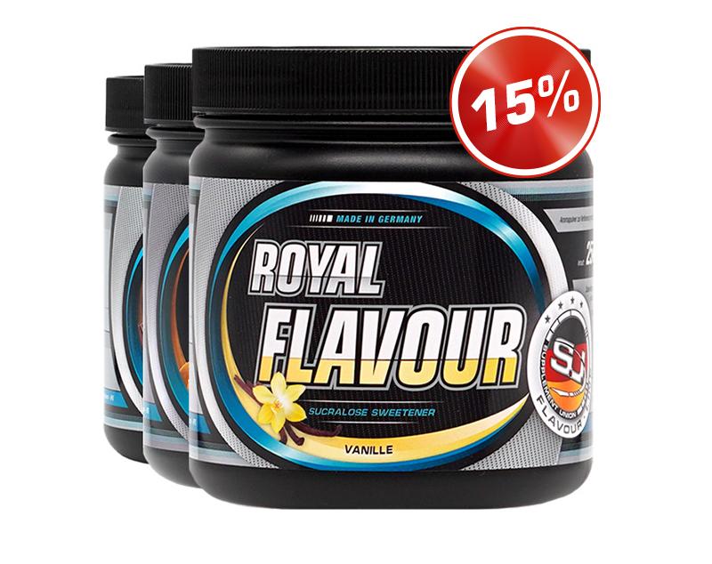 Bild zeigt 3x Royal Flavour Dosen