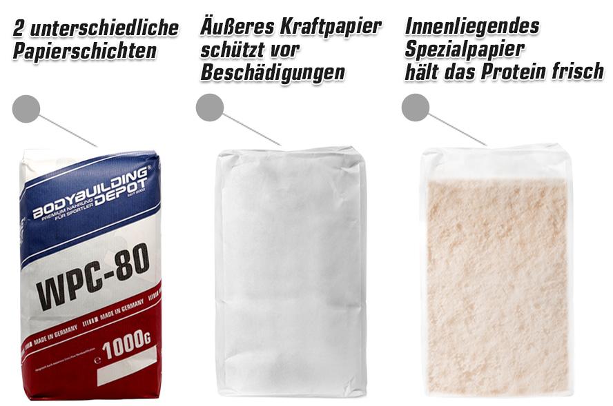 Protein Papierbeutel