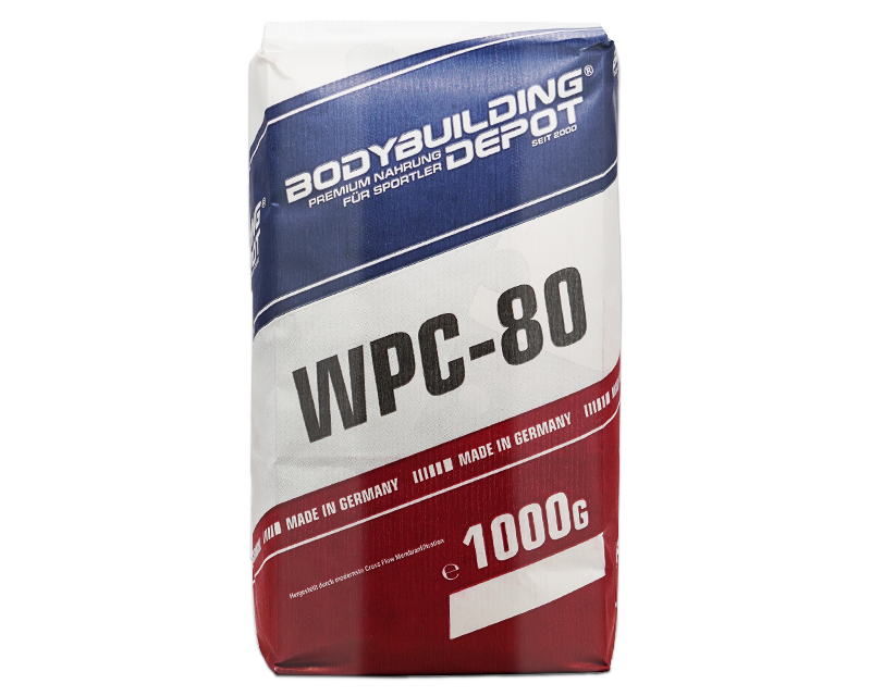 WPC-80 Whey Protein in Papier verpackt