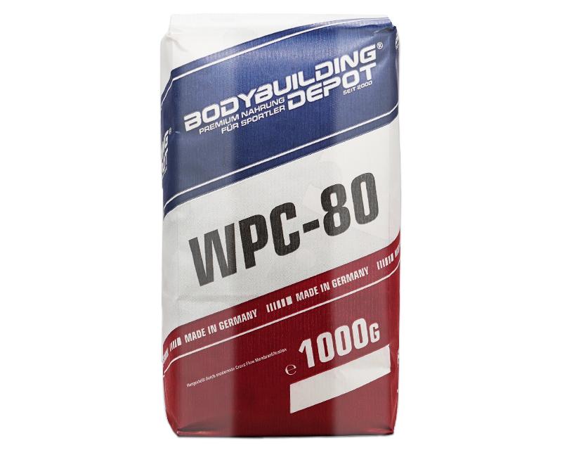 Bild zeigt Wpc 80 Whey Protein Papiertuete